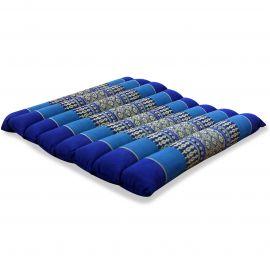 Kapok Sitzkissen, Stuhlauflage, Gr. M, gesteppt, blau
