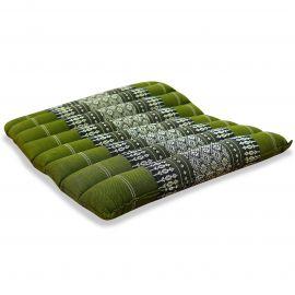 Kapok Sitzkissen, Sitzauflage, Gr. M, gesteppt, grün