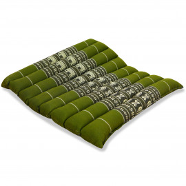 Sitzkissen, Thaikissen, Gr. M, gesteppt, grün / Elefanten