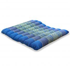 Kapok Sitzkissen, Stuhlauflage, Gr. M, gesteppt, hellblau