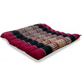 Kapok Sitzkissen, Stuhlauflage, Gr. M, gesteppt, rot / schwarz