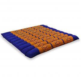 Kapok Sitzkissen, Thaikissen, Gr. L, gesteppt, blau / gelb
