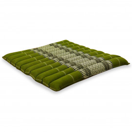 Kapok Sitzkissen, Thaikissen, Gr. L, gesteppt, grün