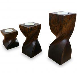Asiatische Teelichthalter  gedrehte Säulen