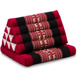 Kapok Thaikissen, Dreieckskissen, rot/Elefanten, 1 Auflage