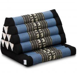 Kapok Thaikissen, Dreieckskissen, blau/Elefanten, 1 Auflage