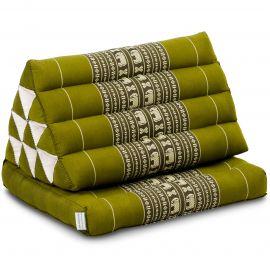 Kapok Thaikissen, Dreieckskissen, grün/Elefanten, 1 Auflage