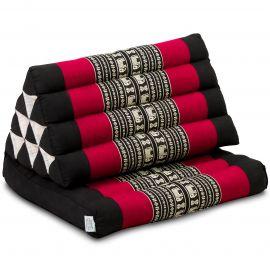 Kapok Thaikissen, Dreieckskissen, schwarz/Elefanten, 1 Auflage