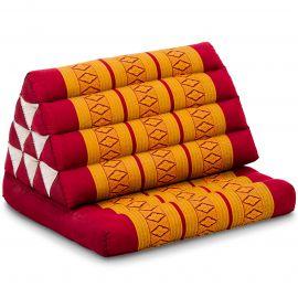 Kapok Thaikissen, Dreieckskissen, rot/gelb, 1 Auflage
