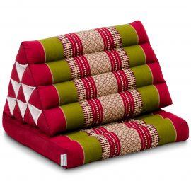Kapok Thaikissen, Dreieckskissen, rot/grün, 1 Auflage