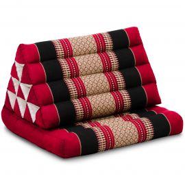 Kapok Thaikissen, Dreieckskissen, rot/schwarz, 1 Auflage
