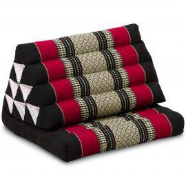 Kapok Thaikissen, Dreieckskissen, schwarz/rot, 1 Auflage