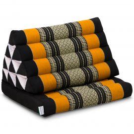 Kapok Thaikissen, Dreieckskissen, schwarz/orange, 1 Auflage