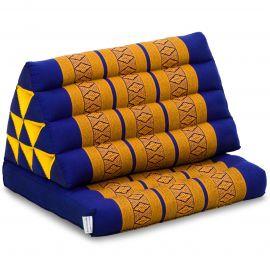 Kapok Thaikissen, Dreieckskissen, blau/gelb, 1 Auflage