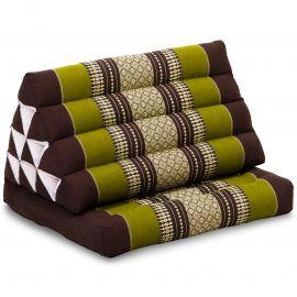 Kapok Thaikissen, Dreieckskissen, braun/grün, 1 Auflage