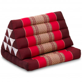 Kapok Thaikissen, Dreieckskissen, rubinrot, 1 Auflage