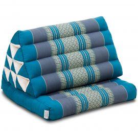 Kapok Thaikissen, Dreieckskissen, hellblau, 1 Auflage