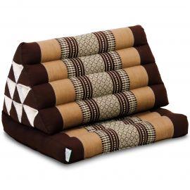 Kapok Thaikissen, Dreieckskissen, braun, 1 Auflage