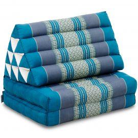 Kapok Thaikissen, Dreieckskissen, hellblau, 2 Auflagen