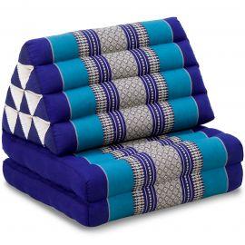 Kapok Thaikissen, Dreieckskissen, blau, 2 Auflagen