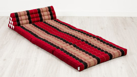 Jumbo Thaikissen, Dreieckskissen XXL-Breite, rot / schwarz