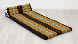 Jumbo Thaikissen, Dreieckskissen XXL-Breite, schwarz / orange