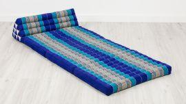 Jumbo Thaikissen, Dreieckskissen XXL-Breite, blau