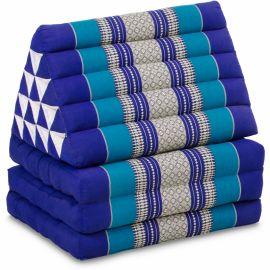 (B-Ware) Nr.96 Jumbo Thaikissen, Dreieckskissen XXL-Höhe, blau