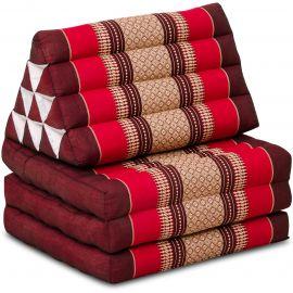 Kapok Thaikissen, Dreieckskissen, rubinrot, 3 Auflagen