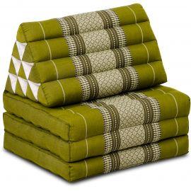 Kapok Thaikissen, Dreieckskissen, grün, 3 Auflagen