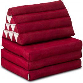 Kapok Thaikissen, Dreieckskissen, einfarbig, rot, 3 Auflagen