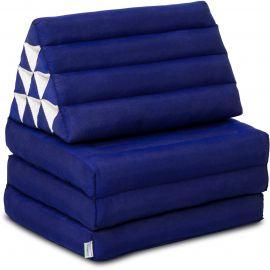 (B-Ware) Nr.116 Kapok Thaikissen, Dreieckskissen, einfarbig, blau, 3 Auflagen