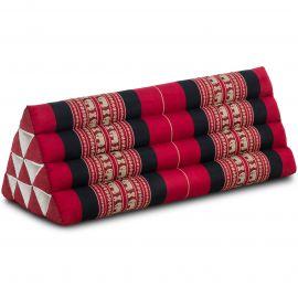 Dreieckskissen als Rückenstütze, extrabreit, rot / Elefanten