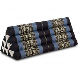 Dreieckskissen als Rückenstütze, extrabreit, blau / Elefanten