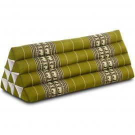 Dreieckskissen als Rückenstütze, extrabreit, grün / Elefanten