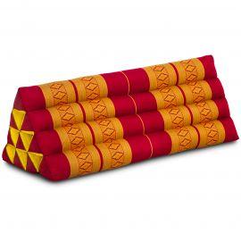 Dreieckskissen als Rückenstütze, extrabreit, rot / gelb