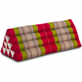 Dreieckskissen als Rückenstütze, extrabreit, rot / grün