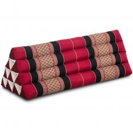 Dreieckskissen als Rückenstütze, extrabreit, rot / schwarz