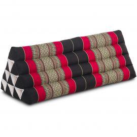 Dreieckskissen als Rückenstütze, extrabreit, schwarz / rot