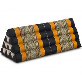 Dreieckskissen als Rückenstütze, extrabreit, schwarz / orange