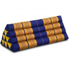 Dreieckskissen als Rückenstütze, extrabreit, blau / gelb