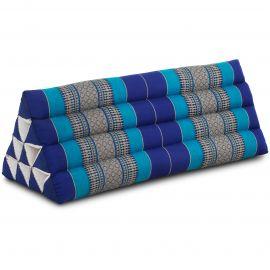 Dreieckskissen als Rückenstütze, extrabreit, blau