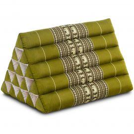 Thaikissen ohne Auflagen, extrahoch  grün / Elefanten
