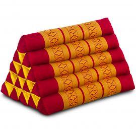 Thaikissen ohne Auflagen, extrahoch  rot/gelb