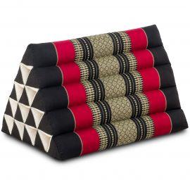 Thaikissen ohne Auflagen, extrahoch  schwarz / rot