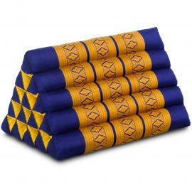 Thaikissen ohne Auflagen, extrahoch  blau / gelb
