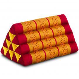 Thaikissen ohne Auflage, rot / gelb