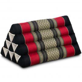 Thaikissen ohne Auflage, schwarz / rot