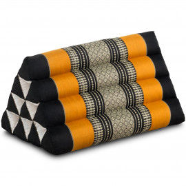 Thaikissen ohne Auflage, schwarz / orange