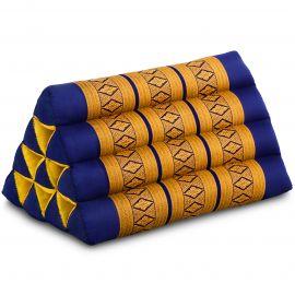 Thaikissen ohne Auflage, blau / gelb
